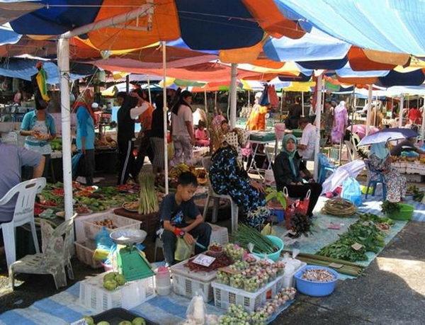 ตลาดทามูเคียงเก Tamu Kianggeh บรูไน